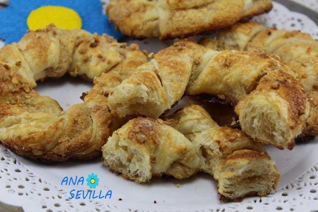 Roscas de hojaldre y avellanas Thermomix Ana Sevilla