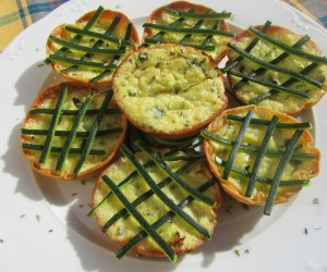 Mini-quiches de calabacín Thermomix