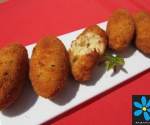 Croquetas de arroz y bacon Thermomix