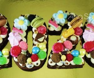 Tarta de números de mascarpone