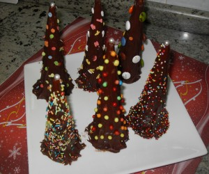 Pinos de chocolate Thermomix