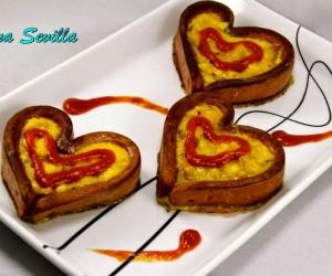 Corazones de tortilla