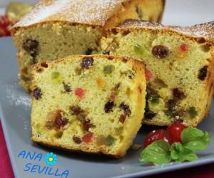 Plum-cake de frutas escarchadas