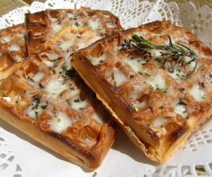 Gofres de pizza (o wafles)