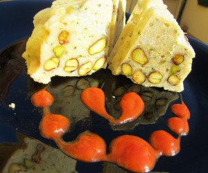 Fiambre de pollo y pistachos Thermomix