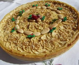 Tarta de manzana y almendras