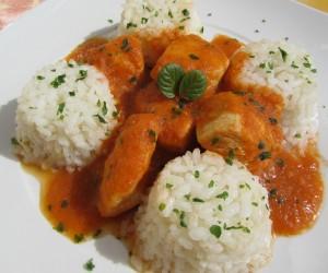 Pechugas en salsa de verduras Thermomix