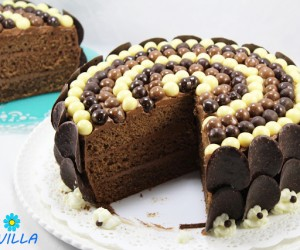 Tarta buttercream de chocolate