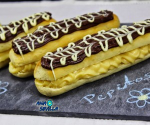 Pepitos de crema y chocolate