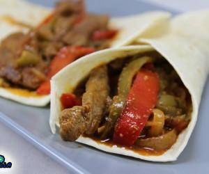 Tacos de ternera a la jardinera