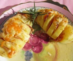 Patatas en abanico