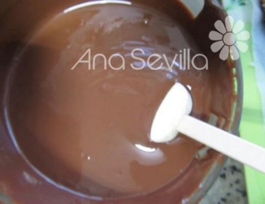 Sumergir en el chocolate