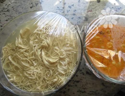 Hidratar los noodles