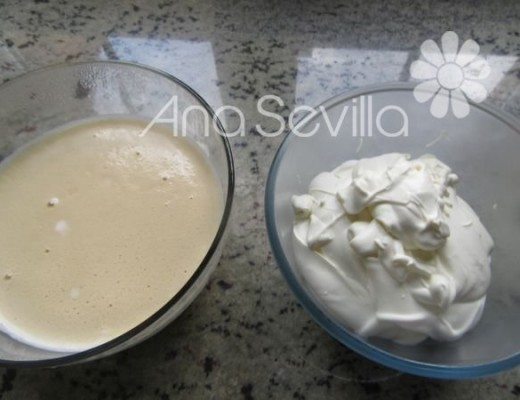 Mezclar la nata con mascarpone