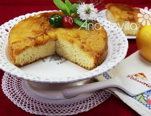 Tarta tatín de manzana y bizcocho