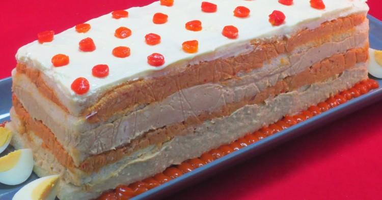 Pastel de atún bicolor