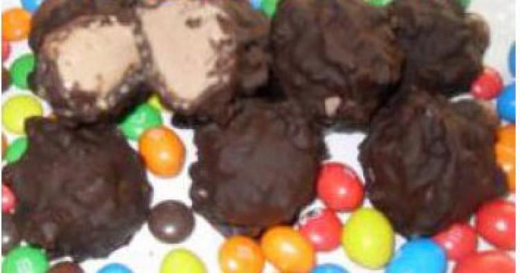 Bombón helado de plátano y chocolate