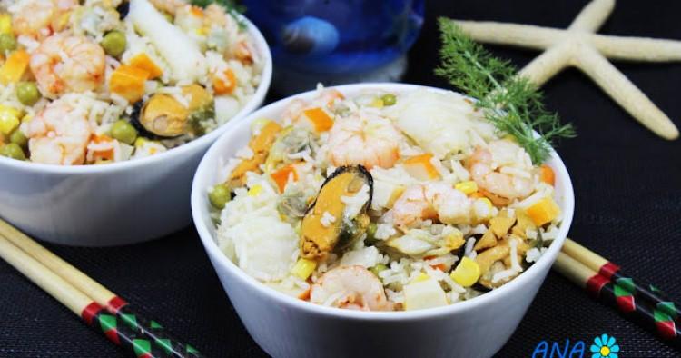 Ensalada de arroz marinera