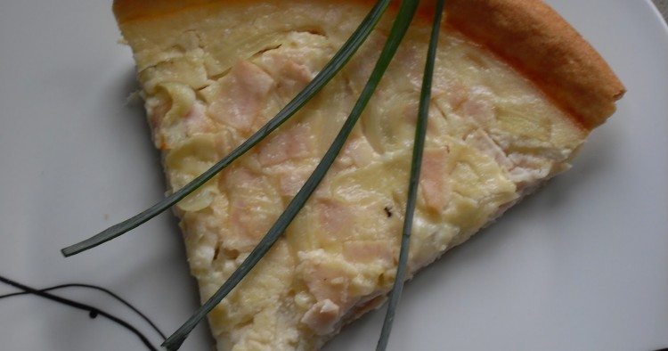 Tarta de pavo, queso y cebolla Thermomix