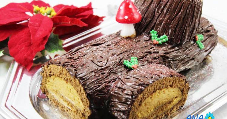 Tronco de mascarpone y caramelo