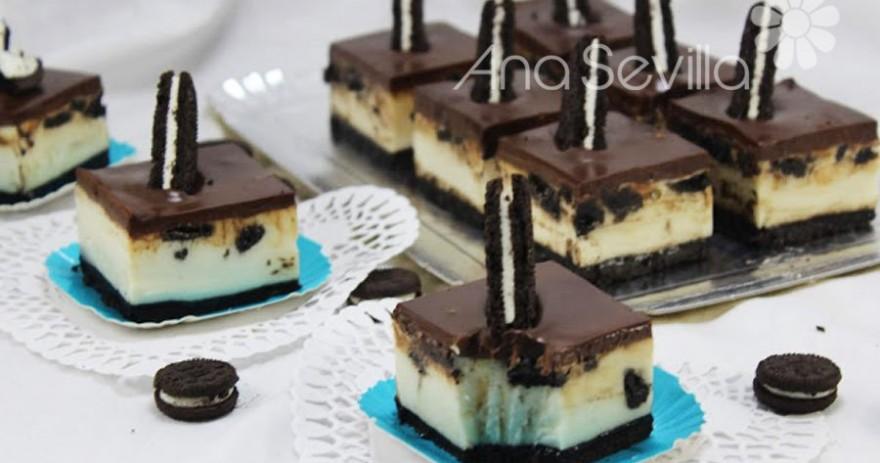 Pastelitos cheesecake oreo