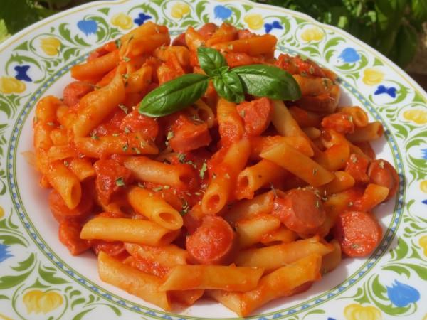 Macarrones con tomate express