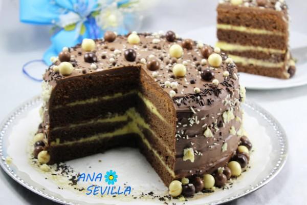 Tarta de colacao y natillas Ana Sevilla con Thermomix