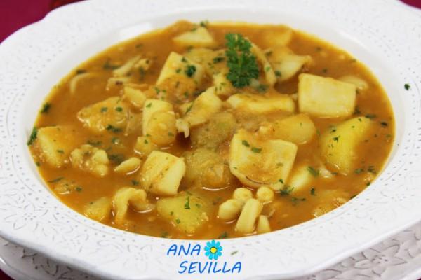 Papas con Choco (Patatas con sepia) Ana Sevilla cocina tradicional