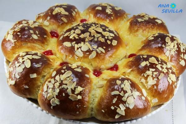 Brioche portugués relleno de chocolate Ana Sevilla cocina tradicional