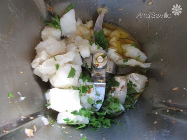 Migas de coliflor con bacalao Thermomix