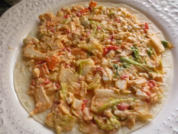 Tarta salada de tortitas Thermomix