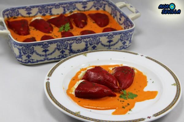 Pimientos rellenos de bacalao Ana Sevilla cocina tradicional