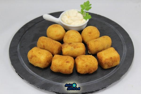 Croquetas de falso carabinero Ana Sevilla cocina tradicional.