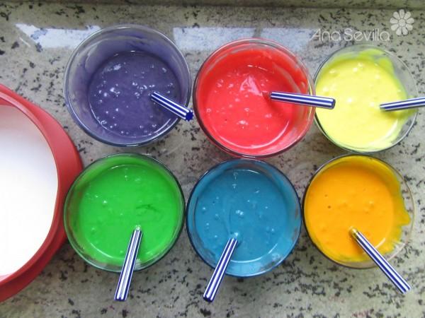 Tarta rainbow cake thermomix