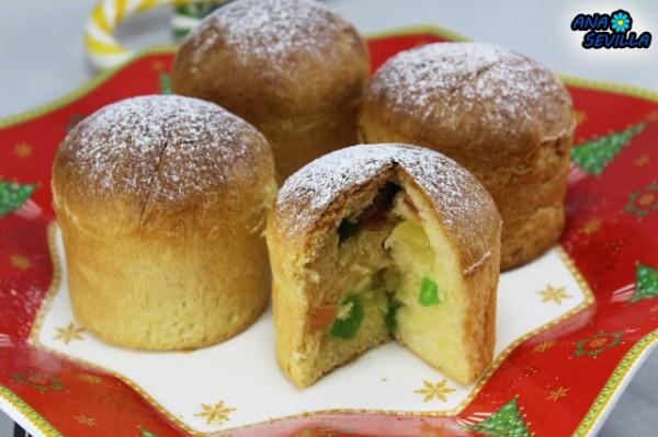 Mini-panettones Ana Sevilla cocina tradicional
