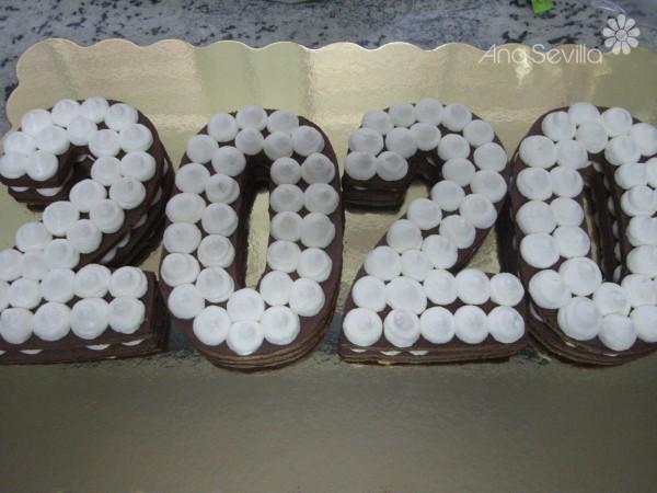Tarta de números de chocolate y mascarpone Thermomix
