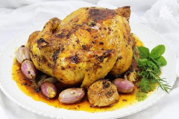 Pollo asado a la mostaza olla GM