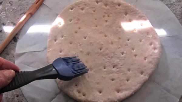 Focaccia de jamón y queso olla GM