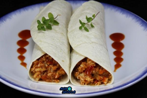 Tacos o tortitas de pollo y tomate Ana Sevilla cocina tradicional