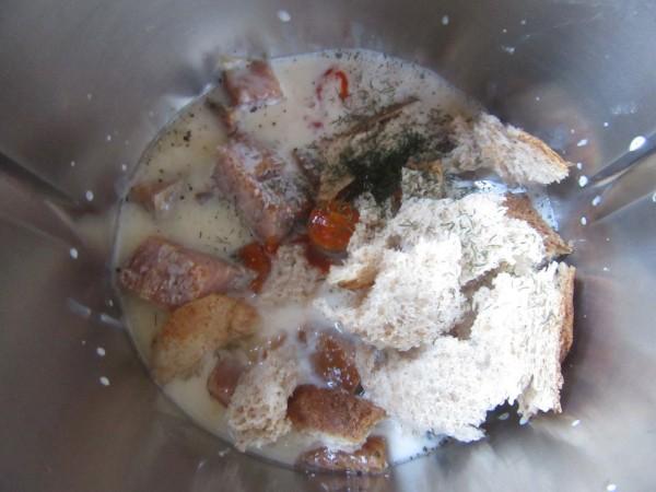 Flan de salmón ahumado con Thermomix.