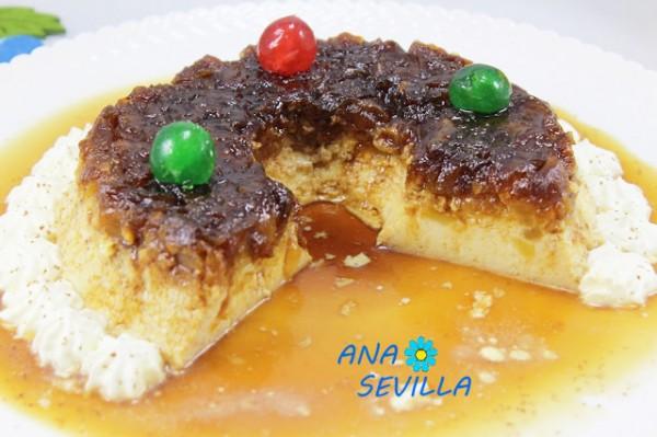 Flan de huevo y manzana caramelizada Ana Sevilla cocina tradicional