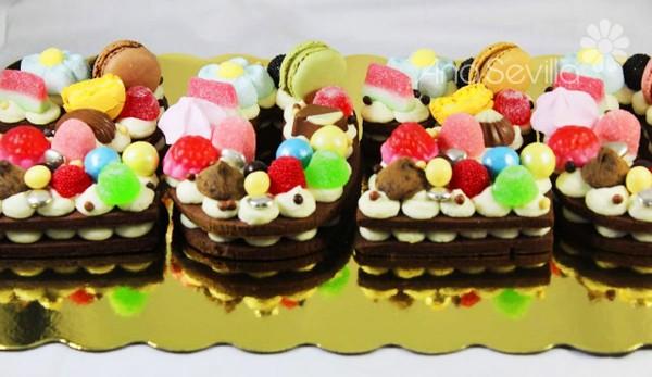Tarta de números de mascarpone y chocolate Thermomix