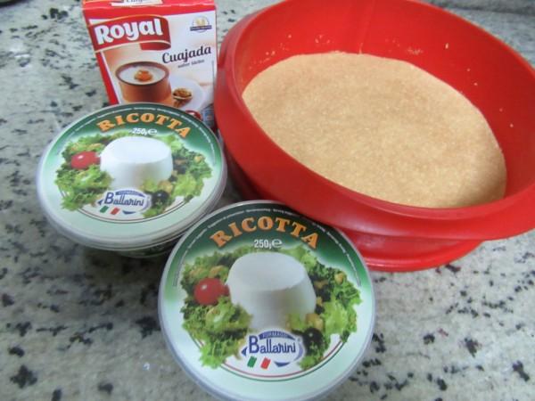 Tarta de ricotta y yema tostada (Sin horno) cocina tradicional
