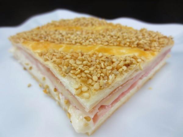 Empanada de hojaldre  jamón y queso Thermomix