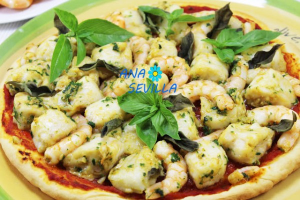 Pizza de pescado Thermomix