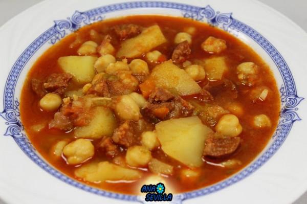 Potaje de garbanzos con patatas Ana Sevilla con Thermomix