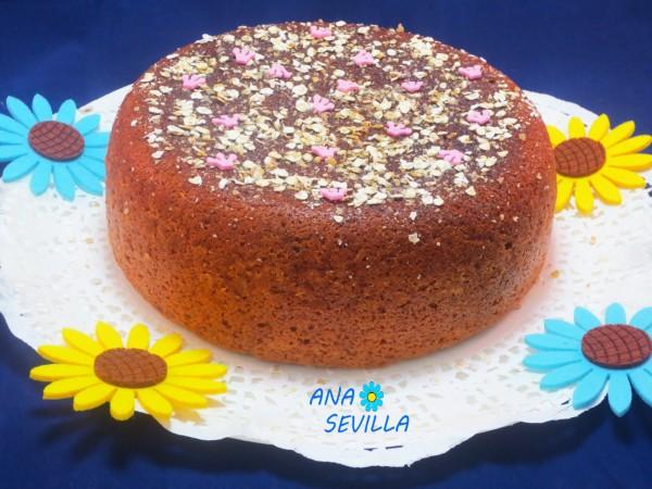 Bizcocho de fruta y fibra olla GM Ana Sevilla