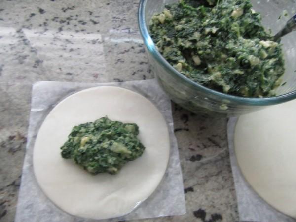 Empanadillas de espinacas y queso de cabra Thermomix