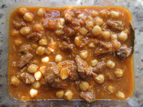 Garbanzos con ternera Thermomix