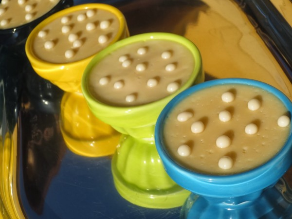 Natillas de chocolate blanco Thermomix